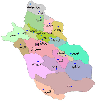 کد پستی شیراز